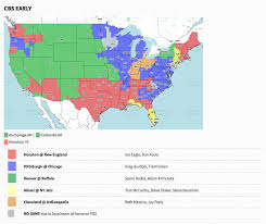Tv Reception Map Nfl Week 3 2017 Broadcast Map