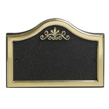 House Plate Wilko House Number Plate Pullman Design Black And Gold At Wilko Com