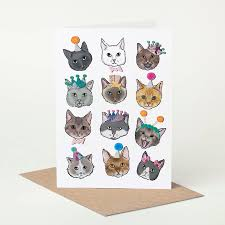 cat birthday card by pugyeah notonthehighstreet