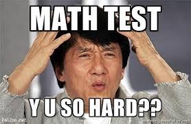 Yu So Meme - math test y u so hard confused jackie chan meme generator