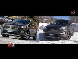 kia sorento vs hyundai santa fe kia vs motor reviews