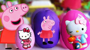 Coffre A Jouet Hello Kitty by Ouverture 3 Oeufs Surprise Jouets Hello Kitty Peppa Pig Play Doh