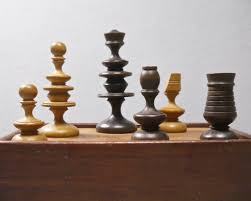 rare english boxwood chess set 18th century 18th and 19th
