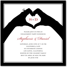 Engagement Party Invites All In Hand Signature White Textured Engagement Party