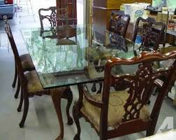 chippendale dining room set chippendale style glass dining room table with 6 chairs for sale in