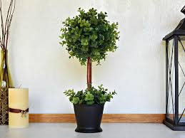 boxwood topiary tree topiaries artificial plant faux green