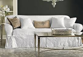 White Sofa Slip Cover by Sofa Slipcover Sure Fit White Matelasse Damask One Piece 1 Piece