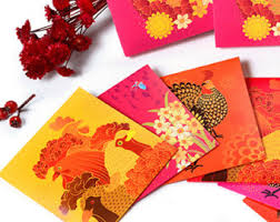 lunar new year envelopes new year etsy