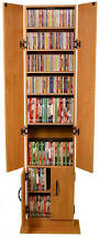 extraordinary dvd media storage ideas with brown wooden cabinet