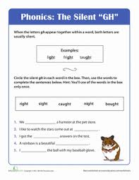 phonics fun silent gh worksheet education com