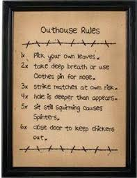 Little Store Of Home Decor Country Bath Outhouse Rules Wooden Wall Art Sign Bathroom Decor