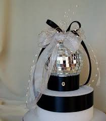 New Years Eve Cakes Decoration by Wedding Cake Topper Mirror Ball Decoration Silver Birthday