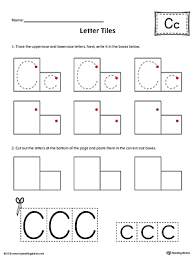 sort the uppercase and lowercase letter c worksheet