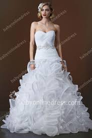 cheap 2017 wedding dresses sweetheart beading sash organza