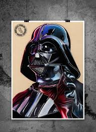 darth vader force choke darth vader force choke illustrated gicleé print
