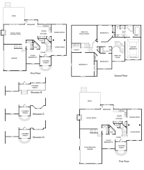 Two Storey Floor Plans Modified Two Story House Plans House Plan