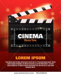 movie poster flyer template online cinema stock vector 604160846