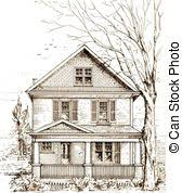 house with a porch porch illustrations and clip art 2 052 porch royalty free