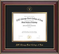 of illinois diploma frame chicago kent diploma frame cherry lacquer w seal black on gold