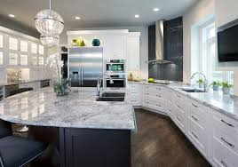 Contemporary Kitchen Ceiling Lights by Super White Granite Kitchen Contemporary With Curved Island