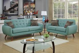 Blue Sofas And Loveseats Amazon Com Poundex F6914 Bobkona Sonya Linen Like 2 Piece Sofa