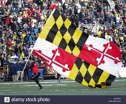 College Flag College Park Maryland Usa 11th Nov 2017 Cheerleaders Run With