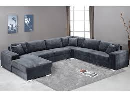 canapé d angle 7 places pas cher canapé panoramique 7 places tissu gris angle gauche muse