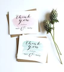 wedding thank you cards watercolor wedding thank you cards set of 12 stationery paper