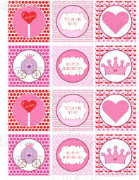 printable valentine diy stickers labels tags princess sale