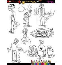 peas pod coloring royalty free vector