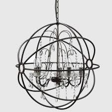 Modern Sphere Chandelier Dining Room Globe Chandelier Antique Bronze Contemporary