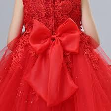 newborn wedding dress fashion formal baby bow pattern for