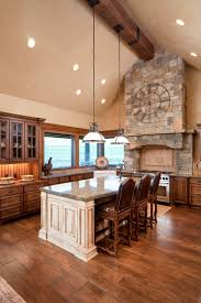 vaulted ceiling living room and kitchen centerfieldbar com