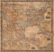 United States Map Wall Art file 1856 mitchell wall map of the united states and north america