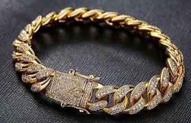 bracelet luxury crystal images Uwin hip hop luxury crystal cz zircon triple lock bracelet 14mm jpg