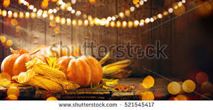 happy thanksgiving day background wooden table stock photo