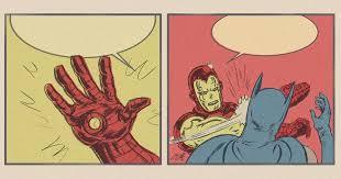 Slappin Batman Meme Generator - iron man slapping batman blank template imgflip