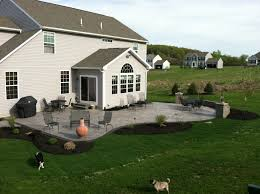 House Patio Design by Decorating Awesome Home Design With Stamped Concrete Patio Plus