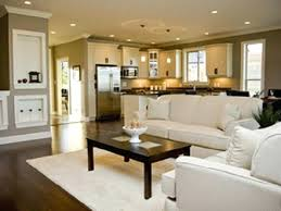 Kitchen Sitting Room Ideas Open Concept Kitchen Living Room Small House Elabrazo Info