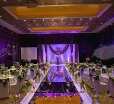 wedding centerpieces mirror carpet aisle runner gold silver double