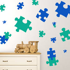 wall decals puzzle pieces children u0027s museums playgrounds