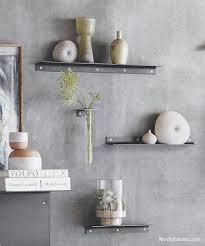 rialto narrow wall shelves set of 2