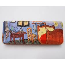 the bedroom van gogh glasses box with the bedroom from vincent van gogh