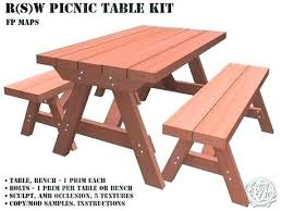 Folding Bench Picnic Table Picnic Table Bench Combo Free Picnic Table Plans In All Shapes And