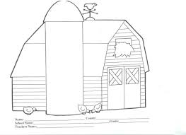 barns coloring pages printable images kids aim