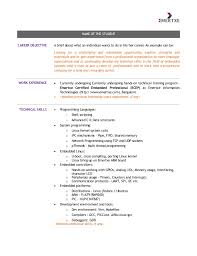 Example Of Resume For Teenager by Embedded Systems Course Student Resume Template