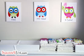 Nursery Wall Decor Ideas Nursery Wall Decorate Your Baby S Room For Less Squawkfox