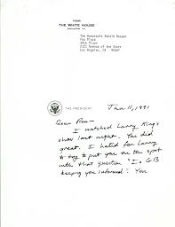 letter from president george h w bush to ronald reagan
