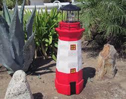 Lighthouse Garden Decor Solar Garden Lighthouse Rotating Beacon Blue Black Red Color Choice