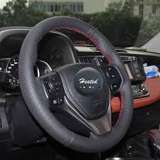 toyota corolla steering wheel cover nappa leather braid on car steering wheel cover for toyota rav4